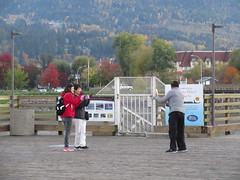 Everyone wants a picture! (jamica1) Tags: tourist salmon arm shuswap bc british columbia canada photography camera