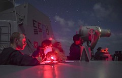 USS McCampbell sends visual communication with flashing light. (Official U.S. Navy Imagery) Tags: argyll 7thfleet indopacific usnavy exercise mccampbell hms southchinasea
