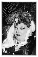 IMG_0371 (Scotchjohnnie) Tags: whitbygothweekendnovember2016 whitbygothweekend whitby wgw wgw2016 yorkshire northyorkshire goth gothic costume female people portrait photoshop streetphotography blackwhite mono monochrome canon canoneos canon7dmkii canonef24105mmf4lisusm scotchjohnnie