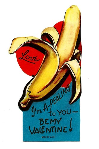 Vintage Child's Valentine Card - I'm A-Pealing To You, Be My Valentine! Made In USA, Circa 1950s