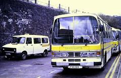 Slide 132-59 (Steve Guess) Tags: clayton jones ford duple pontypridd wales gb uk bus coach freight rover sherpa crewbus fax151v d968ltx taxi shamrock