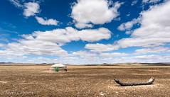 Into the Mongolian Steppe (joeri-c) Tags: steppe grass grassland ger yurt tire cloud space nomad nomadic travel tourism mongolia asia landscape sky nikon d750 nikond750 20mm