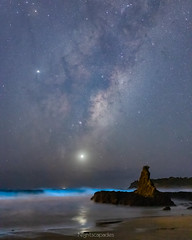 Not a bad start! (nightscapades) Tags: astronomy astrophotography bioluminescence cathedralrocks galacticcore jupiter kiama milkyway night nightscapes planets sky stars venus newsouthwales australia au