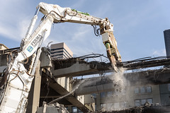 A little bite of the viaduct (WSDOT) Tags: seattle gp construction wsdot alaskan way viaduct replacement demolition 2019