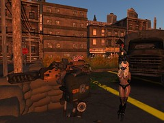 """Danger Bunny:: That Sounded Like """"Braiins"""" (Cherie Langer) Tags: firestorm secondlife secondlife:region=mustangbay secondlife:parcel=grimlysbloodbathbeyondzombieapocalypsemainstore secondlife:x=163 secondlife:y=144 secondlife:z=56 zombies sf scifi steampunk horror"""