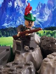 Alpini, Western Alps, 1940 (brickhistorian) Tags: italy burp war world ww2 wwii minifig minifigure moc military lego legos italian history custom customs alpini alps mountain troops warfare