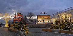 New year in Moscow (janepesle) Tags: moscow russia architecture church orthodox night light illumination new year christmas celebration city cityscape tree travel sky street варварка москва