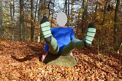 Autumn - gymnastics in pantyhose and leotard (wetmuddy) Tags: outdoor fun forest autumn herbst wald leotard unitard pantyhose gymanstik gymnastikanzug lycra spandex medias strumpfhose tights legs leggings gymnastics gimnasia