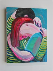 A Painting by Tori Tinsley | Hathaway Contemporary Gallery | Atlanta, GA (steveartist) Tags: paintings acrylicpaintings toritinsley imaginativeart art contemporaryart artists femaleartists southernartists hathawaycontemporarygallery atlantaga couples hugs man woman