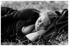 Sleeping girl (Vleminckx Andre) Tags: bw zw