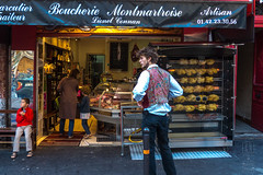 Sunday Roast Chicken (shapeshift) Tags: boucherie davidpham davidphamsf documentary europe fleamarmrket france montmartre paris people shapeshift shapeshiftnet shop street streetphotography travel îledefrance fr food
