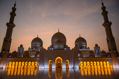 Sunset at Sheikh Zayed Grand Mosque