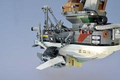 Lego Flying Tug Boat - atana studio (Anthony SÉJOURNÉ) Tags: lego flying tug boat tribute ian mcque brick afol moc creator atana studio anthony séjourné moebius jean giraud