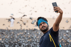 Pigeon Selfie, Down by the Sea, India (Geraint Rowland Photography) Tags: photo photogrpahy selfie indians indianphotography indianculture indiansatthebeach indianpeopleandphotography seaside beach dawn birds pigeons vermin flyingrats intense watching staring gazing mobilephotography mobiletechnology thefuture advanced beachphotography wwwgeraintrowlandcouk swarm flockflockofbirds