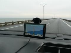 approaching Rømø (achatphoenix) Tags: road roadtrip street enroute enpassant vomautofenster rømø rømødamm insel nordsee nordseeinsel vadehavsøerne vadehavet wattenmeer rømødæmningen