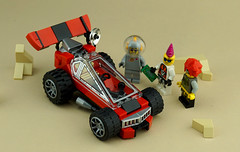 Febrovery 2019 Day 10 (TFDesigns!) Tags: lego space rover febrovery vehicle race sporty custom hotrod