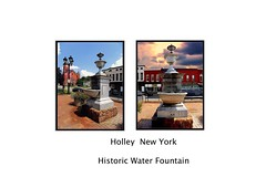 Holley New York  - Holley Public Square and Salisbury Fountain (1914), (Onasill ~ Bill Badzo - 62 Million - Thank You) Tags: holley ny newyork monroecounty historical historic district nrhp onasill public square salisbury fountain downs hotel hotelholley cbr buildings commercial main street architecture style greek revival italianate queen anne beaux arts late gothic downtown clouds orleanscounty state 1914 waterfountain sky