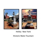 Holley New York  - Holley Public Square and Salisbury Fountain (1914), thumbnail