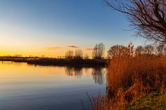 Sunset (jan.vd.wolf) Tags: baarn utrecht nederland nl amersfoort zonsondergang water river rivier eem landscape landschap natuur nature boom tree sky schemering twilight