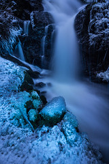 Aqua Morphous (vanessa_macdonald) Tags: blue lightpainting lighting light aqua water waterfall falls magic ethereal colourful colour beauty nature flow flowing bc british columbia longexposure night twilight vancouverisland victoria britishcolumbia painting icy ice frozen landscape glow cold cool nightphotography nightscape outdoor