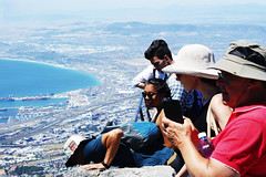 Looking Down (Steven.Harrison) Tags: southafrica capetown honeymoon travel travelphotography landscape landscapephotography people tourist camera scenery water pof photography tablemountain mountain city sun