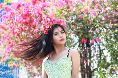 IMG_2689 (Sharmila Padilla) Tags: flowers lady canon portrait ladies balloon outside play pinkflowers pink photography street modes happy joy smile pretty sports white road makeup