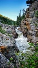 Summer at Poudre Falls (CTfotomagik) Tags: river waterfall samsung galaxy s5 boulders rocks summer water mountains cachelapoudre landscape nature mobile canyon colorado