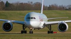 A7-BDA (hartlandmartin) Tags: a7bda qatarairways boeing 787800 bhx egbb birmingham elmdon takeoff aircraft airline airport aeroplane jet flight aviation plane transport nikon d7200 70300afp