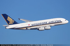 9V-SKZ | Airbus A380-841 | Singapore Airlines (james.ronayne) Tags: sia sq aeroplane airplane plane aircraft jetliner airliner aviation flight flying london heathrow lhr egll canon 80d 100400mm raw