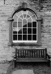 Bench and Window (graemes83) Tags: pentax ilford film 135 35mm black white