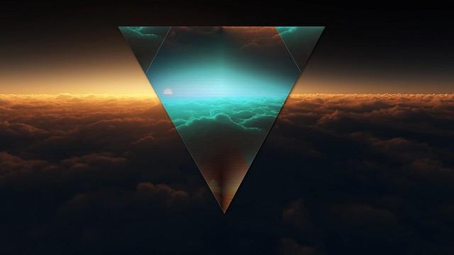 Обои треугольник, форма, темный, фигурка картинки на рабочий стол, фото скачать бесплатно