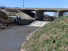 Latest look of dam under the bridge and Logan creek (ali eminov) Tags: wayne nebraska creeks logancreek bridges