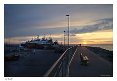 Soleil couchant au port de La Turballe (Bruno-photos2013) Tags: bretagne port soleilcouchant coucherdusoleil bateaux digue turballe loireatlantique paysdeloire paysage paysagemaritime landscape maritime
