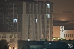 Alaska Residency, Memon Medical Institute, Karachi (SajjadClicks) Tags: nightscape rokinon samyang 800mm mirror lens karachi airport