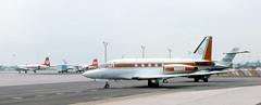 Dantata Sabreliner (ƒliçkrwåy) Tags: n80rs northamerican sabreliner bizjet gatwick airport lgw egkk kodachrome dantata aircraft aviation