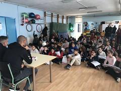 Fali i Pol V. visiten l'escola Campclar