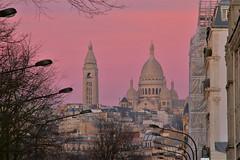 Pink hour (hervétherry) Tags: france iledefrance paris 75008 canon eos 7d efs 18200 boulevatddesbatignolles boulevard batignolles montmartre sacrécoeur sacré coeur église basilique coucherdesoleil coucher soleil sunset pink