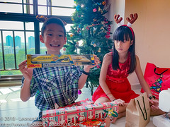 Ethan finallyy gets to open his trains (Stinkee Beek) Tags: christmas erin ethan