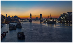 Sunrise Tower Bridge London (babell4321) Tags: london city towerbridge beverleybell weekendaway 2019 sunrise hmsbelfast ship boat water riverthames longexposure canon boats river buildings skyline silhouette cranes cityoflondon morning bridge londonlandmarks
