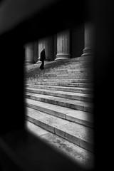 DSC01926 (romainlettuce) Tags: budapest szépművészetimúzeum column gate stairs blackandwhite subframing streetphotography sonyrx100iv figuretoground notionalspace