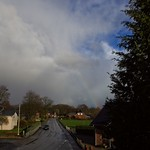 Sonne & Regen - Blick ins Dorf -  17. März 2019 - Tarbek - Schleswig-Holstein - Deutschland thumbnail
