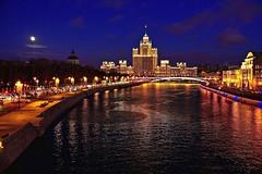 Evening Moscow (prokhorov.victor) Tags: москва река вечер город улица здание архитектура вода отражение