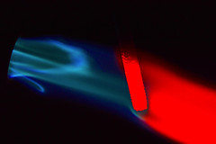 Red Hot Blue (donjuanmon) Tags: donjuanmon nikon macro macromondays hmm hotorcold theme red blue hot flame glow metal torch propane