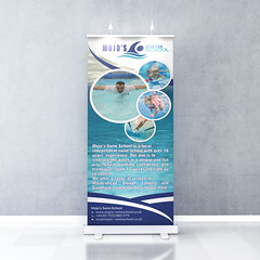 Blank roll up banner display.Template mockup. 3d render (Logics Design) Tags: 3d ad advertisement advertising background banner blank board booth business commerce commercial corporate design display empty event illustration info information interior market marketing mock mockup nobody object poster presentation render retail roll rollup sale show sign stand store surface template up vertical white