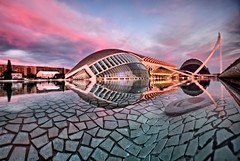 Blurry and noisy, but I like it! (Vest der ute) Tags: xt20 fav25 spain couds sky water art buildings rocks sunset fav200