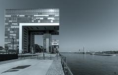 Köln II (st.weber71) Tags: nikon nrw architektur art köln kranhäuser deutschland germany gebäude z7 schwarzweis blackandwhite rheinland cologne brücken rheinbrücke rhein