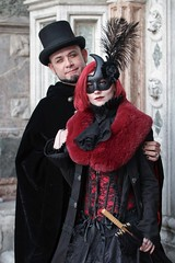 Portrait from Carnevale di Venezia 2019 (Gordon.A) Tags: italy italia venice venezia veneto carnevale carnival venicecarnival carnevaledivenezia carnavaldevenecia carnavaldevenise karnevalinvenedig 2019 venetian veneziano creative costume top hat mask maschere masque design festival event eventphotography culture subculture lifestyle people man lady woman face model pose posed posing outdoor outdoors outside wall naturallight colour colours color amateur street portrait portraitphotography digital canon eos 750d sigma sigma50100mmf18dc