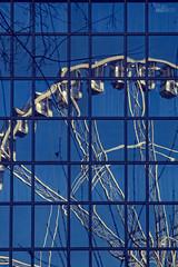 ... (ángel mateo) Tags: ángelmartínmateo ángelmateo budapest hungría noriadebudapest cielo árboles invierno nublado sky trees cloudy winter erzsébettér szigeteye reflejo distorsión ventanas edificio cristal estructura reflection distortion windows building glass structure tükröződés torzítás ablakok üvegszerkezet budapesteye