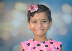 The Science Behind a Smile (Nithi clicks) Tags: smile girl color pink portrait