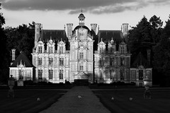 Château de Beaumesnil (Catherine Reznitchenko) Tags: châteaudebeaumesnil eure normandie france château castle building beautiful bâtiment europe extérieur outdoors nature landscape paysage patrimoine architecture light pelouse poules hens animal alley path allée dusk normandy noiretblanc black white blackwhitephotos sunset coucherdesoleil jardin parc garden sunlight 27 27410 atmosphere chemin ciel arbres trees travel histoire history monochrome skancheli canon exploration catherinereznitchenko